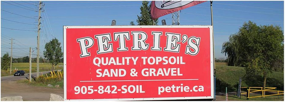 Petrie's Quality Topsoil Ltd. | sign